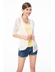 OSA Women's Hollow Transparent Lace Knit Cardigan Sunscreen Sweater Coat
