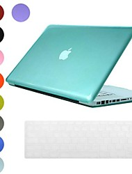 Hard Case translucide design PC avec le clavier de peau de couverture pour MacBook Pro (couleurs assorties)