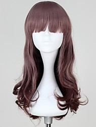 Multi-color Long Curly Synthetic Sweet Brown Lolita Wig