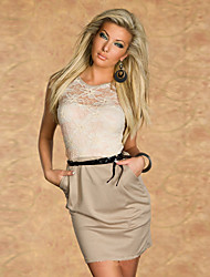 Women's Dresses , Polyester Casual Duoer