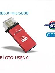 FCD-8 j-come USB 3.0 / USB OTG del micro 8G per smartphone OTG e pc