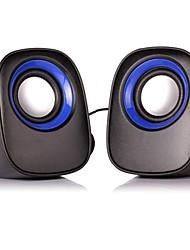 Nettes Paar wiederaufladbare USB 2.0 & Disk & SD Card Mini-Lautsprecher