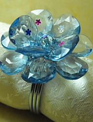 Flower With Big Petals Napkin Ring, Acrylic Beades, 3.5CM, Set of 12,