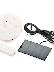 controle remoto lâmpada de inundação solar com 8 sistema de iluminação led