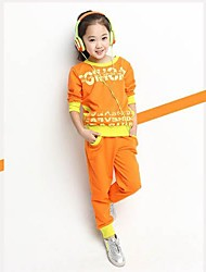 Abby Girl's Fashion Leisure Letter Sports Long Sleeve Clothing Sets