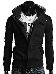 Wshgyy Hombres todas correspondan Ocio manga larga con capucha Cardigan Negro