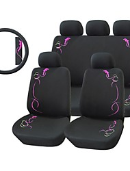 12 PCS Dolphin Car Seat Cover Set Universal Fit Material Polyester + Steering wheel cover + Car Seat Belt Shoulder