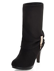 Stiletto Plataforma Joelho Botas Suede Shoes (mais cores)