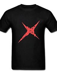 un singe pièce · d · coton T-shirt noir de cosplay luffy cicatrice