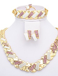WesternRain Women's  Rhinestone Jewelry Set