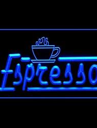 Эспрессо Продвижение Зеленый Синий Красный Белый Оранжевый Фиолетовый Желтый Реклама светодиодные Вход