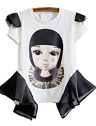 Cute Baby Doll Stampa della camicetta delle donne