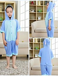 Kigurumi Pajamas Stitch / Monster Leotard/Onesie Halloween Animal Sleepwear Blue Patchwork Modal Kigurumi Kid Halloween
