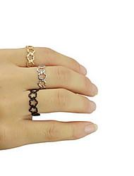 shixin® anneau de bande d'alliage classique de forme de fleur (1 pc)