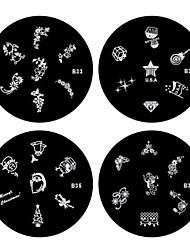 1pcs Nail Art Stamping Stempel Vorlage Platte b-Serie Nr.33-36 (verschiedene Muster)