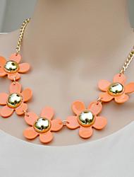 flor moda minúsculos das mulheres colar curto