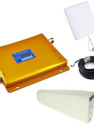 LCD Display GSM & DCS Mobile Phone Dual Band Signal Booster + Log Periodic Antenna + Planar Antenna with Cable