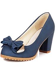 Bombas grueso dedo del pie talón de las mujeres con los zapatos bowknot (más colores)