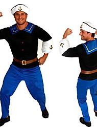 traje de Halloween forte marinheiro Popeye dos homens adultos (para a altura de 168-180cm)