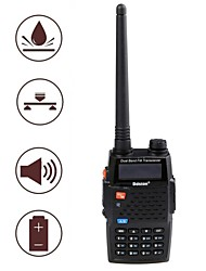 Baiston BST-598UV Waterproof Shockproof Dual-Band Dual-Display Dual-Standby Walkie Talkie - Black