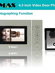 "TMAX® 4.3"" LCD Photograph Video Door Phone Doorbell Home Entry Intercom with 500TVL Night Vision Camera"