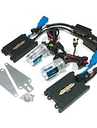 24V 55W H3 6000K HID Xenon Lamp Conversion Kit Set With Mounting Bracket (Black Slim Ballast)