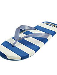 Quiksilver Women's Beach Sports Blue Stripes Flip Flops