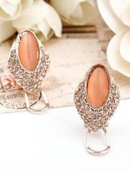 Women's Europe Refinement Classic Vintage Unique Earrings(Orange)