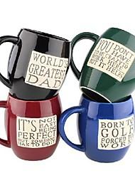 tasse classique rétro barils de devise en forme d'alphabet tasse de café, 10.5x9x10.3cm