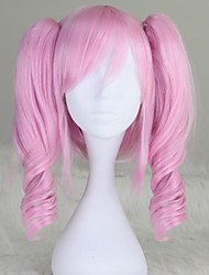 Code Geass Anya Alstreim Long Curly Light Pink Anime Cosplay Wig with Two Ponytails