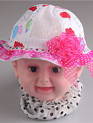 A&M Embroidery Mesh Flower Colorful Summer Baby Sun Hat#AM88017 (Red)