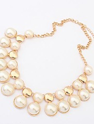 Women'S European Acrylic Pearl Punk Necklace(Screen Color)