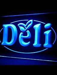 Deli Food Promotion Green Blue Red White Orange Purple Yellow Advertising LED Light Sign