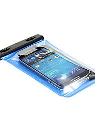 teléfono móvil del bingo bolsa impermeable con el auricular (negro y azul)