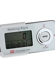 YuanBoTong   Smart Sensor 4 key series 3D Pedometer with Date/Time/Data Store(White)