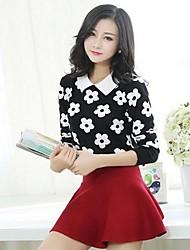 Medium - Langarm - Pullover - Wolle/Baumwolle )