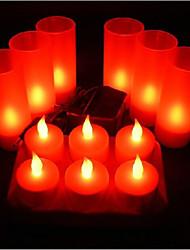 oplaadbare vlamloze LED kaars voor festival decoratie licht 6st rode led