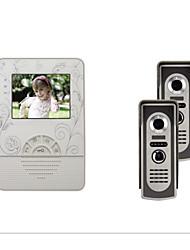 4,3 pouces TFT LCD couleur 420 lignes Video Door Phone avec 2 à 1
