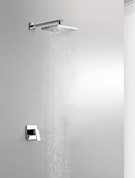 Shower Faucet Contemporary Rain Shower Brass Chrome