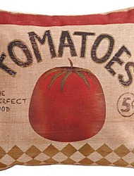"Createforlife ® 18 ""x 18"" Quadrat Rote Tomaten Perfect Food Baumwolle / Leinen Dekorative Kissen"