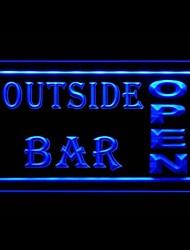 Outside Bar Open Advertising LED Light Sign