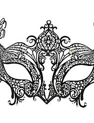 Distinguished Fox Kaiserin Stil Black Metal Halloween Masquerade Mask