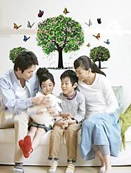 Doudouwo ® botanique Big Tree Papillons Printemps Stickers muraux