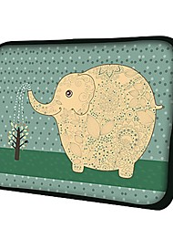 Elonno Elephant Watering The Flowers Neoprene Laptop Sleeve Case Bag Pouch Cover for 13'' Macbook Pro/Air Dell HP Acer
