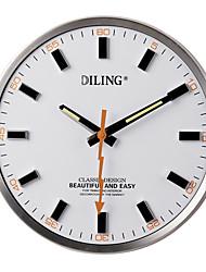 """13.6 """"moderno ponteiro relâmpago rodada relógio de parede branco pvc"""