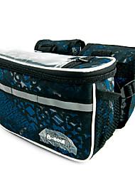 b-Seele 600d Polyester blau und schwarz berührbaren Fahrradrahmentasche mit Reflexstreifen
