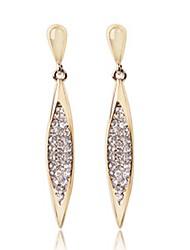 Glänzende Frauen Diamante Fashion Lange Ohrringe
