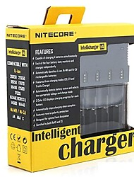 Très avancée Intelligence chargeur i4 18650 RCR123 Ni-MH / Ni-Cd Smart Battery Charger noire