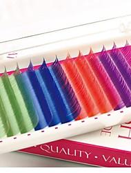 1 caixa de 4 classificado curva fibra cores c diâmetro comprimento 0,1 milímetros 12 milímetros de extensão dos cílios