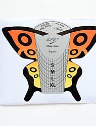 Formas Art Nail 100 Pcs borboleta Ferramentas Acrílico UV Gel Dicas Guia de Extensão
